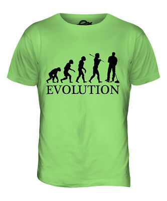 Janitor / Park Warden Evolution Mens T-Shirt Tee Top Gift Janitorial Trolley