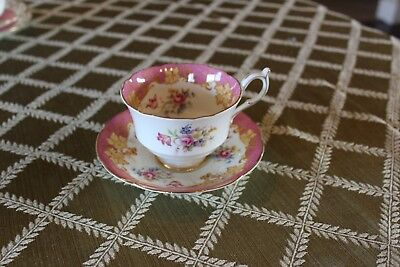 Gorgeous PARAGON Pink/Gold Floral Cup & Saucer Fine English Bone China