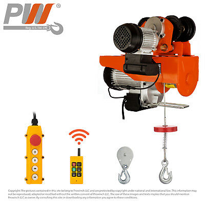ProWinch Wireless Electric Rope Hoist w/ Trolley 2200 lbs. capacity - 120V