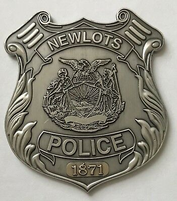 NYPD East New York City Police Dept NEWLOTS Brooklyn PD Coin #209 1871-1886