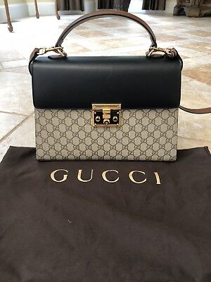 3ca24a0e7 GUCCI PADLOCK SMALL GG Top Handle Bag - $850.00 | PicClick