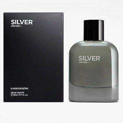 Zara SILVER For MAN EAU DE TOILETTE EDT FRAGRANCE PERFUME 100ml new boxed