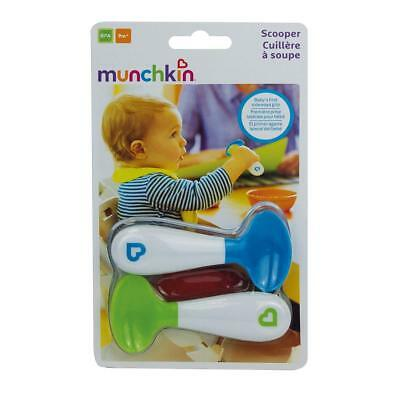 Munchkin Baby Toddler Self-Feeding Scooper Spoons - Pack of 2, Green and Blue