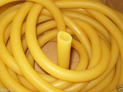 "Big 3/4"" Inside Diameter 1/8"" Wall Latex Rubber Tubing 20 Continuous Feet"
