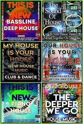 Deep House Dance Bassline Piano Club CDs 6 DJ mixed CD PACK COLLECTION 2018 NEW