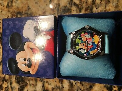 Mickey Mouse  Wrist Watch Nib With Collectors Box