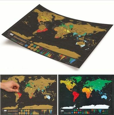 Large Size World Map Deluxe Travel Scratch Poster Creative Gift 32.4 x 23 inch