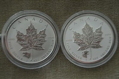 2016 & 2017 Canada 1oz RP Maple Leafs - Grizzly & Cougar Privy Coins