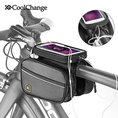 Bike Phone Bag Front Frame Cycling Sport Top Handlebar Storage Double Pouch Bag