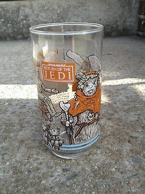 Star Wars Return Of The Jedi Burger King, Coca Cola Glass. Lucas Film 1983