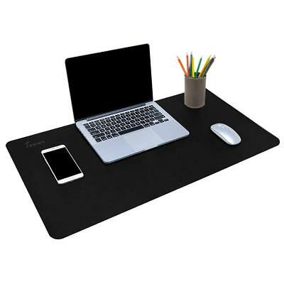 "Leather Desk Pad Protector 34""x17"" Desk Blotter Pad, Waterproof Writing Desk Mat"