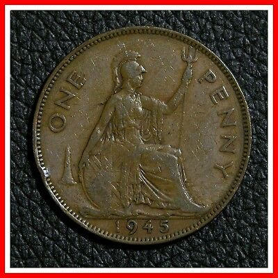 1945 Great Britain Large One Penny - XF