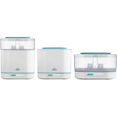 Electric Steam Sterilizer Philips Avent 3-in-1 BPA-Free Automatic Baby