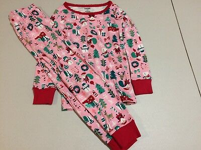 NWT Gymboree Christmas Girls Gymmies Santa Reindeer Pajama Set Many Sizes