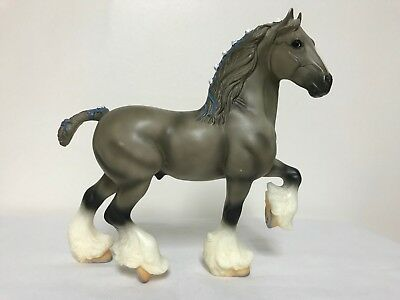 Breyer Shire A 627 with Pink Dotted Ribbons - Retired