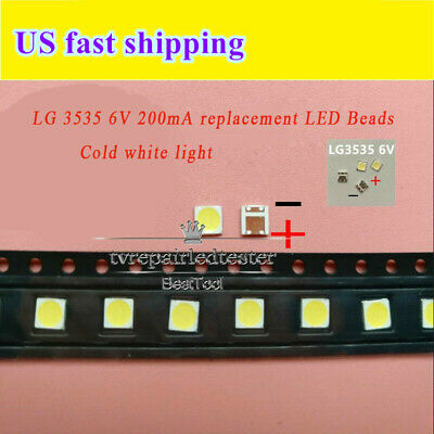 100Pcs 3535 SMD lamp beads 200mA Specially for LG LED TV Repair/Module Light