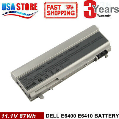 9CELL 90WH Battery For Dell LATITUDE E6400 E6500 E6410 E6510 F8TTW 4M529 OEM