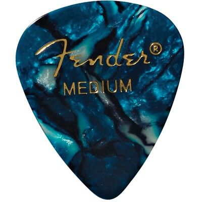 Fender 351 Shape Premium Medium Thickness Guitar Picks - Ocean Turquoise