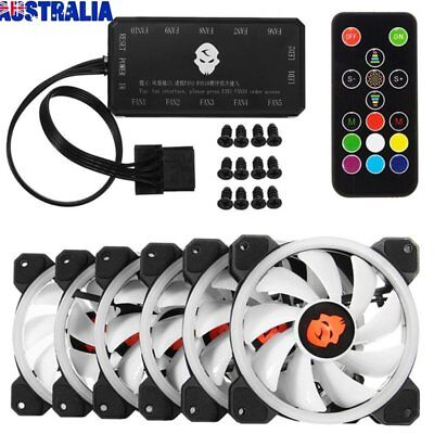 Computer Case PC RGB Cooling Fan LED 120mm Cooler RemoteControl LoT RE