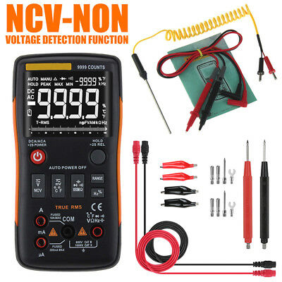 ANENG Q1 True-RMS Digital Multimeter Button 9999 Counts With Analog Bar Graph DC