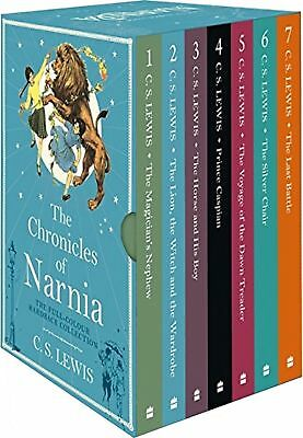 Chronicles of Narnia Collection 7 BooksBox Set By C S Lewis Vol 1 to 7 Pack NEW