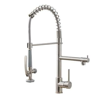 Gimili Commercial Kitchen Faucets with Pull Down Sprayer Stainless Steel Mixer