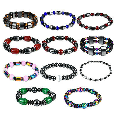 Magnetic Therapy Bracelet Weight Loss Hematite Stone Women Men Health Care Gifts