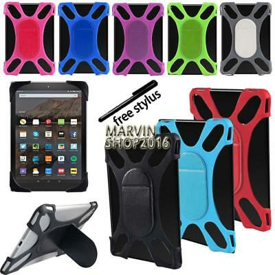 """Tablet Shockproof Soft Silicone Stand Cover Case For 7"""" 8"""" Amazon Kindle Fire"""