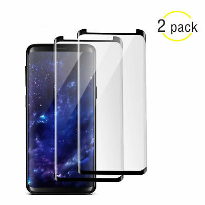 1/2 Samsung Galaxy S8 S9 Plus Note Tempered Glass 4D Full Cover Screen Protector