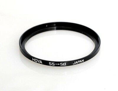 Genuine Hoya 55mm to 58mm 55-58 Step-Up Ring Filter Adapter