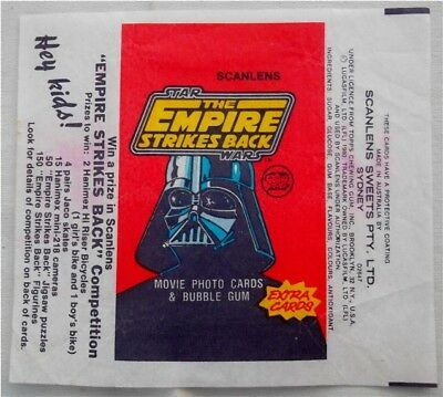 1980 Scanlens Bubble Gum Star Wars Empire Strikes Back Wax Wrapper Australia