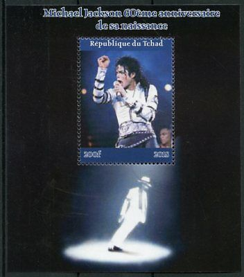 Chad 2018 CTO Michael Jackson 1v M/S II Popstars Music Celebrities Stamps