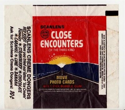 Scanlens  Bubblegum 1978 Close Encounters Of The Third Kind Mov Wax Wrapper Aust