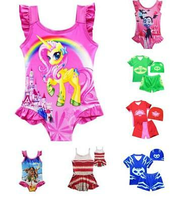 Kids Summer Cosplay swimming wear Swimsuit Catboy Gekko Owlette Moana Trolls