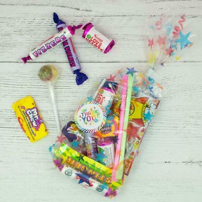 Pre Filled Sweet Bags, Birthday Party Favours, 'Thank You' Cello Sweet Cones Bag