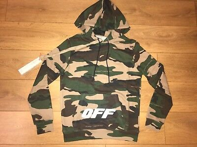 Off White Camo Hoodie Mens Regular Size See Sizes Eur 11416