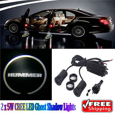 2 x 5W LED Car Ghost Shadow Lights  for Hummer H2 H3 H3T H3X H3 Alpha