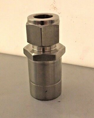 "Hy-Lok CR-8-16-S316, Sub Tube Connector 1.0"" Tube x 0.5"" Port, Stainless 316"