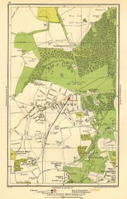 CHINGFORD.Woodford Wells,Epping Forest,Sewardstonebury,Suffield Hatch 1923 map