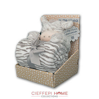 Plaid Bimbo Baby Animals con peluche art. ZEBRA - Cieffepi Home Collections