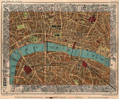 CITY OF LONDON. Southwark Bermondsey Holborn Waterloo Borough 1932 old map