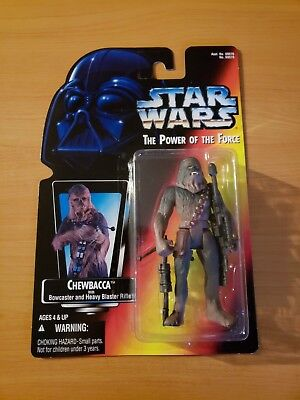 Kenner Star Wars POTF Power of the Force Chewbacca Red Back ~ NEW MOC