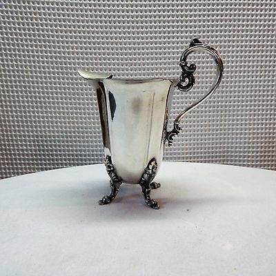 Vintage! Large Silverplate Water Pitcher Over Copper