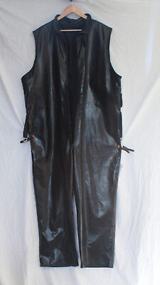 black SBR  rubber lounge body suite satin lined T/V master all in rubber fettis
