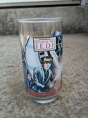 Star Wars Return Of The Jedi Burger King, Coca Cola Glass. Eworks  1983 Free Shp