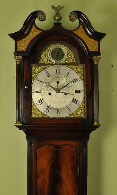 SCOTTISH MAHOGANY LONGCASE GRANDFATHER CLOCK - Dalgliesh Edinburgh