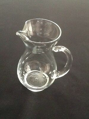 """Princess House Heritage Collection Small Juice Pitcher 6.5"""" Tall With Ice Lip"""