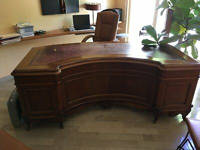 bureau de direction antique  en noyer poli