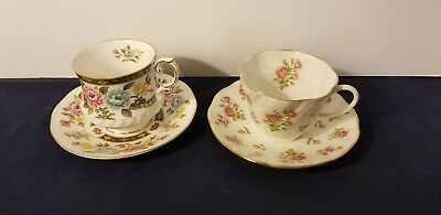 CUP SAUCER QUEEN'S ROSINA CHINA CATHAY and MOSS ROSE