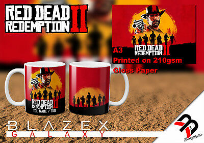 Red Dead Redemption 2 **MUG PERSONALISED** / Poster A3 A4